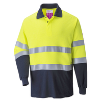 Portwest FR Hi-Vis 2-Tone Polo Shirt Hi-Vis Yellow/Navy