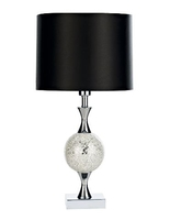 Elsa Table Lamp, Silver Mosaic Complete with Shade | LV1802.0133