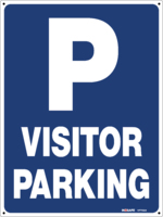 P Visitor Parking Sign