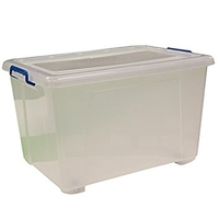 KINGFISHER 46 LTR STORAGE BOX WITH LID AND WHEELS