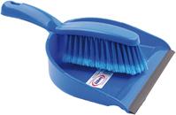 DUST PAN & BRUSH SET BLUE