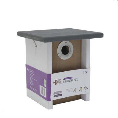 Henry Bell White/Grey Flat Roof Nest Box x 1