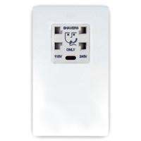 DETA Screwless Shaver Socket White Metal White Insert | LV0201.0032