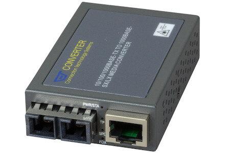 MEDIA CONVERTER  MCT-3002BTFC Compact Media ConverterRJ-45 SC, MM, 550m
