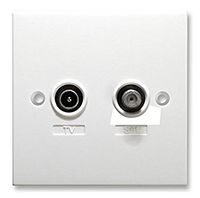 Tv/Sat Wallplate