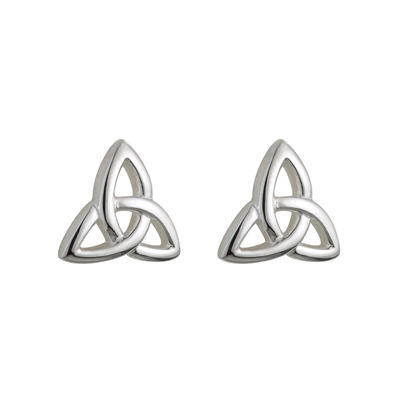STERLING SILVER KIDS TRINITY STUD EARRINGS(BOXED)