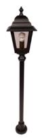 ANSELL Nizza E27 Mini Post Lantern Black