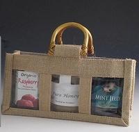 3 Window Small Jute Bag. (Pack Of 10)