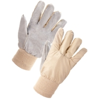 Cotton Chrome Gloves, Wing Thumb, Pair