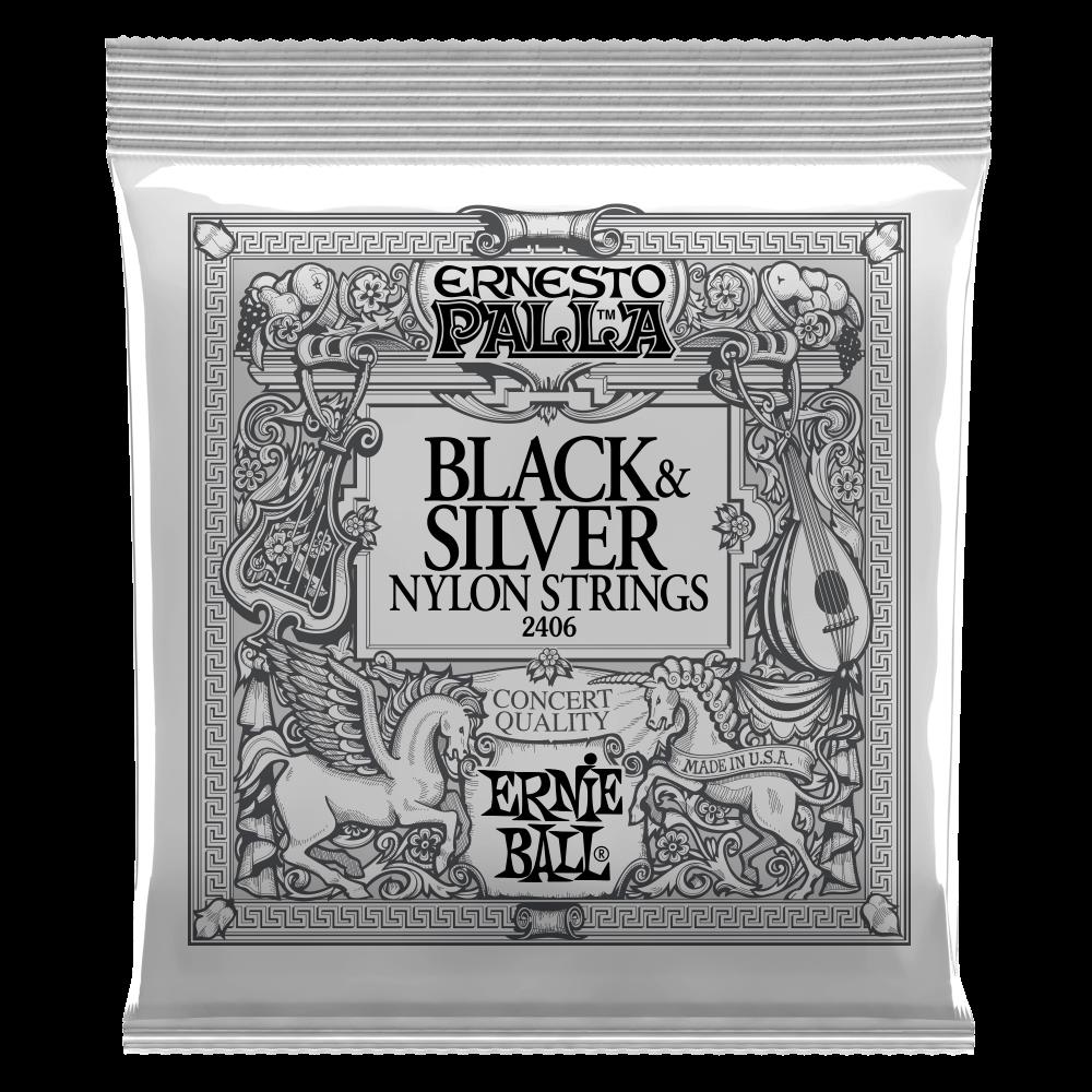 ERNIE BALL BLACK & SILVER  NYLON STRINGS 2406