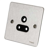 Flat Plate Stainless Steel  5Amp UNSW SKT BLACK | LV0701.0105