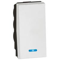 Arteor 2 Way Push Button Indicator (6a250V) - White  | LV0501.2392