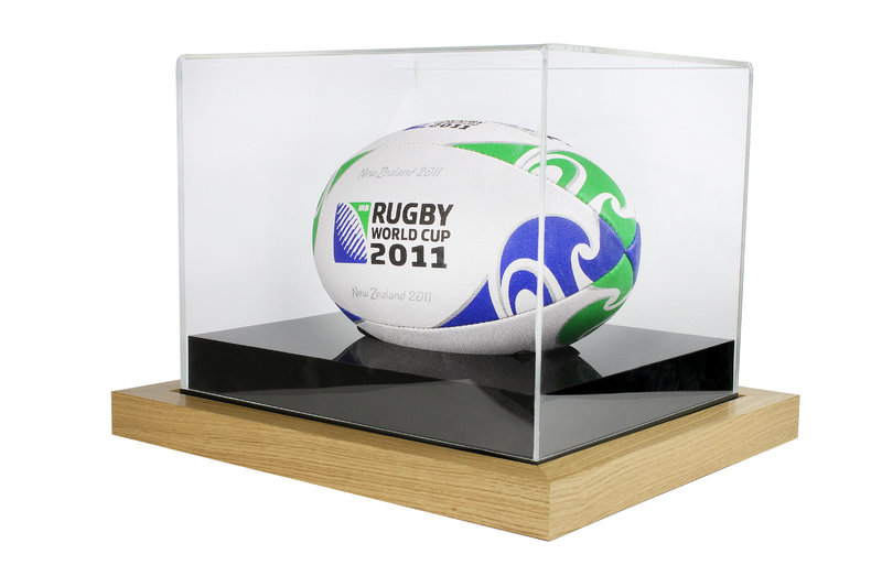Acrylic Box For Rugby Display cases