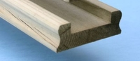 Decking Baserail Moulded Treated 68x24mm 3.9 Metre - No Infill