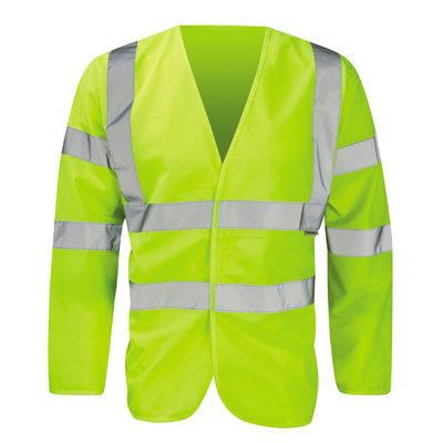 BOA Hi-Vis Long Sleeve Vest Class 3 Yellow or Orange