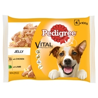 Pedigree Pouches Adult Chicken & Lamb in Jelly 100g 4-Pack x 13