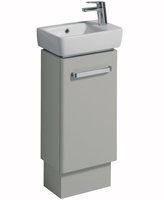SONAS E200 400 FLOOR STANDING VANITY UNIT GREY W400MM X D250MM