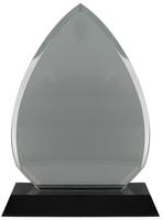 16cm Clear/BK Crystal Plaque (Satin Box)