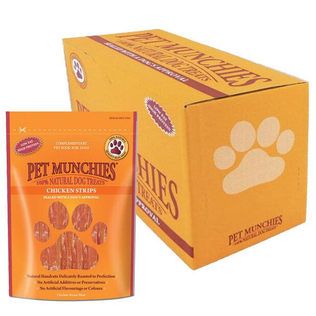 Pet Munchies Chicken Strips Dog Treats 8 x 90g