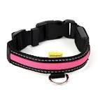 """Animates Soft Nylon LED Collar - Medium 14"""" - 20"""" Pink x 1"""