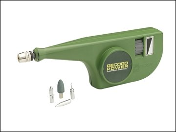 RECORD PROFESSIONAL ENGRAVER 220V 6000spm W/ 4 POINTED TIPS FOR GLASS,SOFT METALS & ALLOYS AND HARDENED STEEL