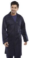 Click Polycotton Warehouse Coat Navy