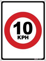 Traffic Speed Sign 10 kph