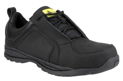 FS59  Black Ladies Lightweight Composite Safety Shoe