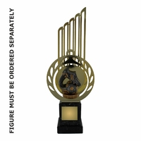 29cm Flex Trophy with Metal Backdrop