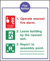Fire Action Sign FACT0014-0451