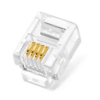 CAT5 RJ11 4 Pin Crimp Plug