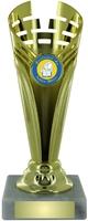 17cm Gold Plastic Cup Trophy (V202)