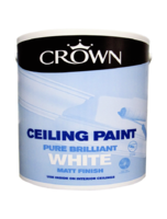 CROWN CEILING PAINT BRILLIANT WHITE 2.5 LTR