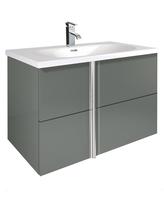 Sonas Avila Gloss Grey 80cm Wall Hung Vanity Unit