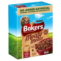 Bakers Complete Small Dog Meaty Meals - Beef 1kg x 4