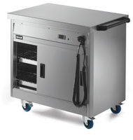 Lincat P6P2 Hot Cupboard Mobile With Plain Top