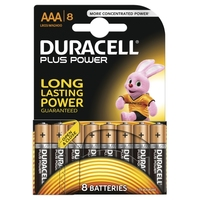 Duracell AAA 8 Pack Plus Power