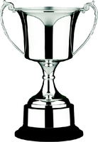 29cm Nickle Plated Studio Cup & Plinth