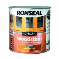 RONSEAL 10 YEAR QUICK DRYING WOODSTAIN SATIN NATURAL PINE 750 ML