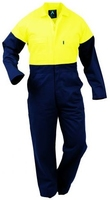 Hi Vis Day Only Plastic Zip Cotton Overall 300gsm