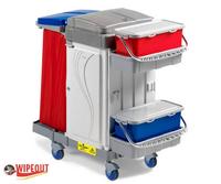 Metal Free Lockable Trolley