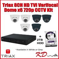 Triax 720p 8CH Varifocal Dome CCTV Kit Grey