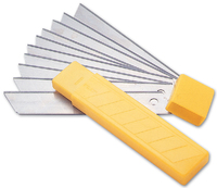Trim Knife Snap-Off Blades 10 Pieces