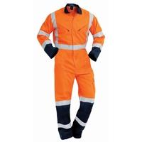 Hi Vis TTMC-W Lightweight Cotton Zip Overall 190gsm