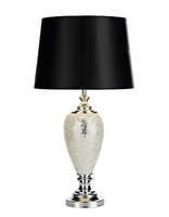 Arpeggio Table Lamp, Silver Mosaic with Shade | LV1802.0115