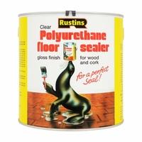 RUSTINS POLYURETHANE FLOOR SEALER GLOSS 2.5LTR