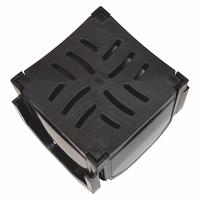 Drain Channel Corner Box with Plastic Grate