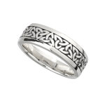 serling sterling silver trinity knot band ring for him s21012 from Solvar