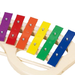 Children's xylophone with handle - close-up