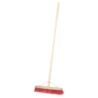 "18"" Stiff PVC Contract Platform Broom and Handle"